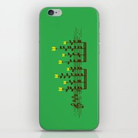 music notes iPhone & iPod Skins featuring Music notes garden by Picomodi