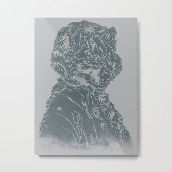 Wolf Amadeus Mozart Metal Print