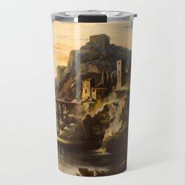 "Théodore Géricault ""Evening. Landscape with an Aqueduct"" Travel Mug"