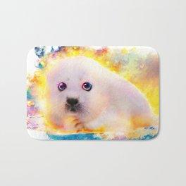 curious seal Bath Mat