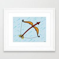 sagittarius Framed Art Prints featuring Sagittarius by Giuseppe Lentini