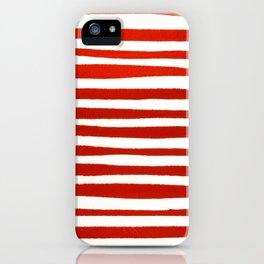 Waterline Pattern in Red iPhone Case