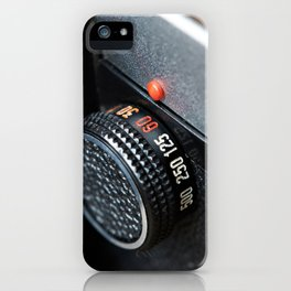 Control dial shutter speed on retro photo camera iPhone Case