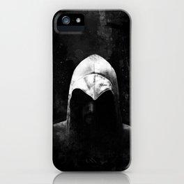 Roman Assassin Hood - B&W iPhone Case