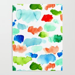 Watercolor Swatch Pattern Poster