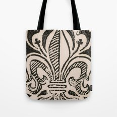 Distressed Fleur-de-Lis Tote Bag