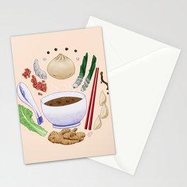 Dumpling Diagram Stationery Cards