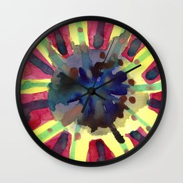 Explosive Sun Wall Clock