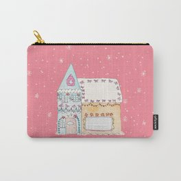 Gingerbread House Blue Carry-All Pouch