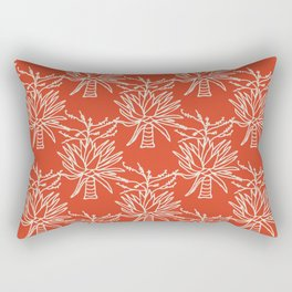 Mountain Agave in Coral and Cream Rectangular Pillow