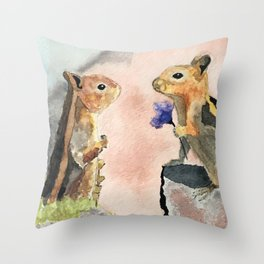 A Flower for the Lady Throw Pillow