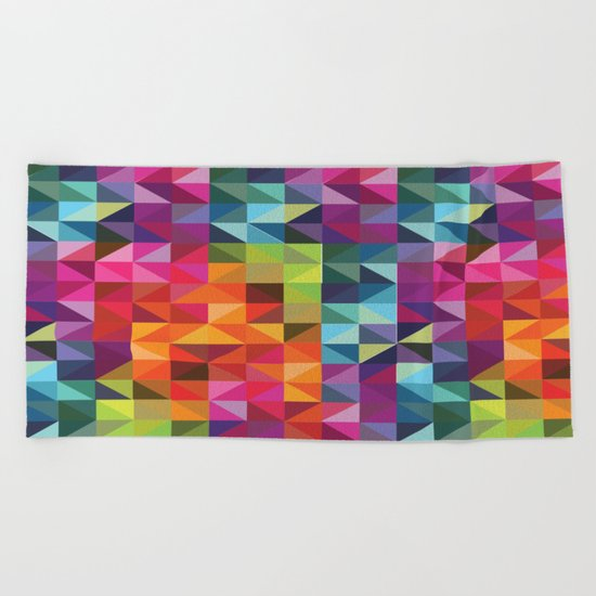 Geometric World No. 2 Beach Towel