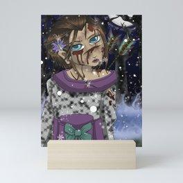 Shots in the Snow Mini Art Print