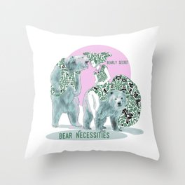 Bear Necessities #1a Bearly Secret Throw Pillow