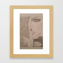 Khloe Kardashian. Framed Art Print