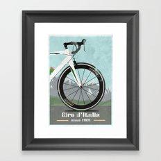 Giro d'Italia Bike Framed Art Print
