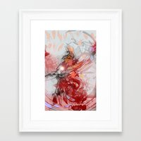 the thing Framed Art Prints featuring Thing by Alex Ruddell