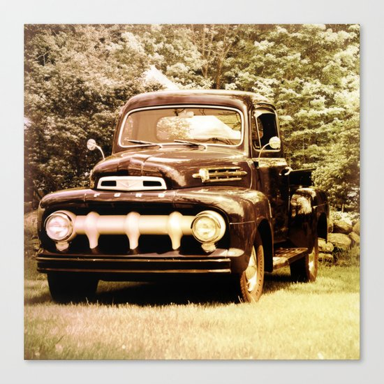 Ford in a Field Canvas Print