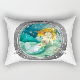 How mermaids get new books Rectangular Pillow