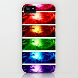 Rainbow Nebula iPhone Case