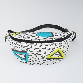 Memphis Neon Throwback Retro 1980s 80s Trendy Hipster Bright Pattern Eighties Fanny Pack