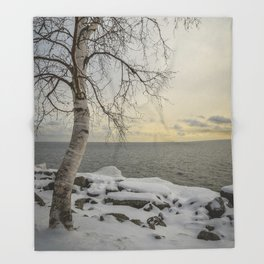 Curves of the Silver Birch by Teresa Thompson Throw Blanket