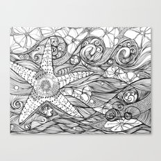 Starfish went out swimming Canvas Print