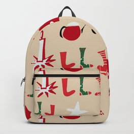 Christmas Cosy Ivory Backpack