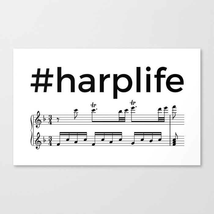 #harplife (2) Canvas Print