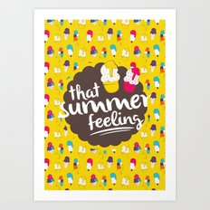 That summer feeling Art Print