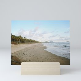 Driftin' On A Palm Tree Beach Mini Art Print