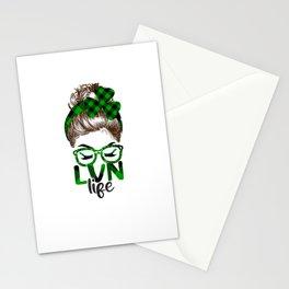 Lucky Lvn St Patricks Day Irish Shamrock Nurse Stationery Cards