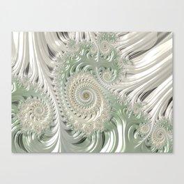 Satin lace neutrals  Canvas Print