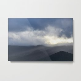 Light Streaming over mountains Metal Print