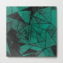 Modern Teal Mosaic Metal Print