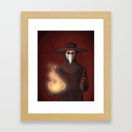 The Plague Doctor Framed Art Print