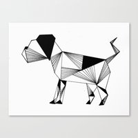 the hound Canvas Prints featuring Hound by LAGOM