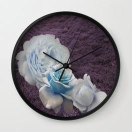 flowers in the grass Wall Clock