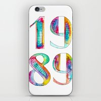 1989 iPhone & iPod Skins featuring 1989 by Christina Guo