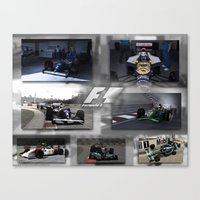 f1 Canvas Prints featuring F1 Collection by ouroboros888