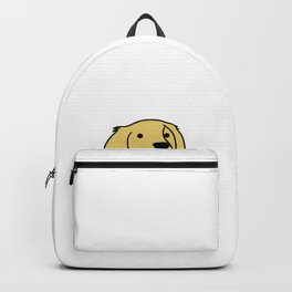 Life is golden Retriever Dog Puppy Doggie Present Backpack