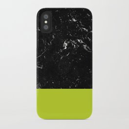 Lime Punch Meets Black Marble #1 #decor #art #society6 iPhone Case