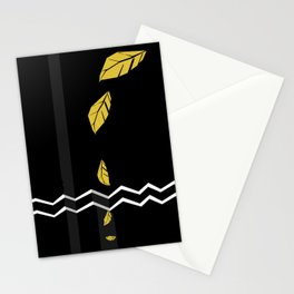 Meraki Fall [Gold Noir] Stationery Cards