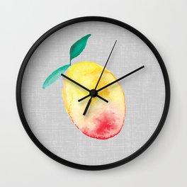 Exotic watercolor mango Wall Clock