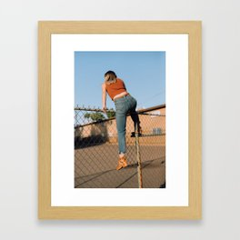 she's outta here Framed Art Print
