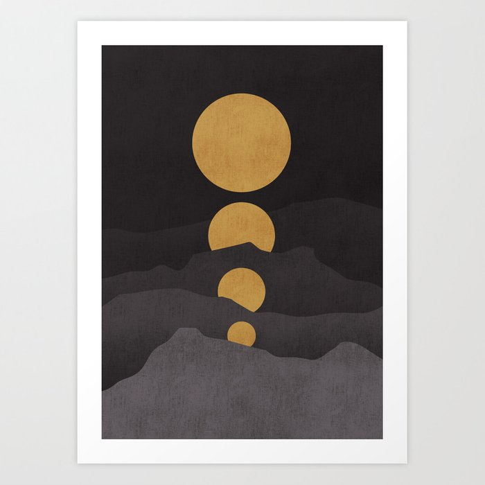 Rise of the golden moon