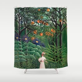 Henri Rousseau - Woman Walking in an Exotic Forest Shower Curtain
