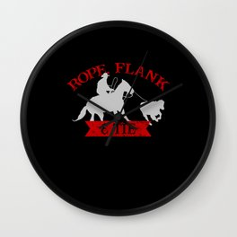 Rope, Flank & Tie Calf Roping Tie-Down Roping Wall Clock