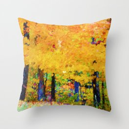 Forest Full Of Color Throw Pillow