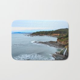 Sunset at Boiler Bay, Oregon Bath Mat